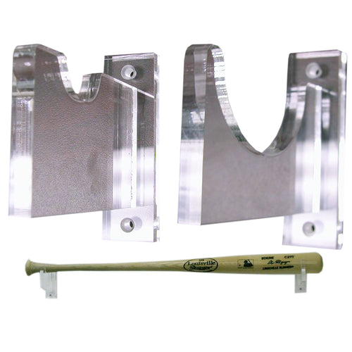 Baseball Bat Wall Mount Horizontal Holder