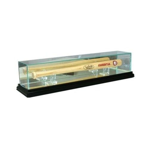 Mini Baseball Bat Glass Display Case Black