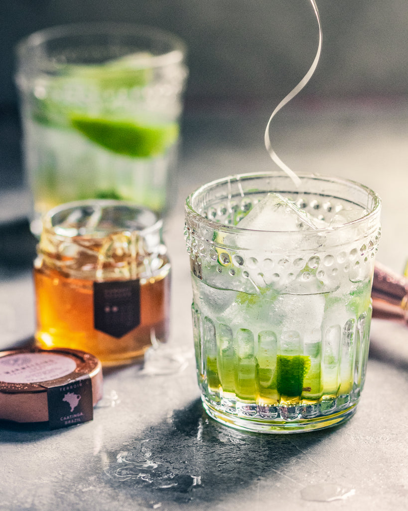 Lime and Honey Brazilian Caipirinha