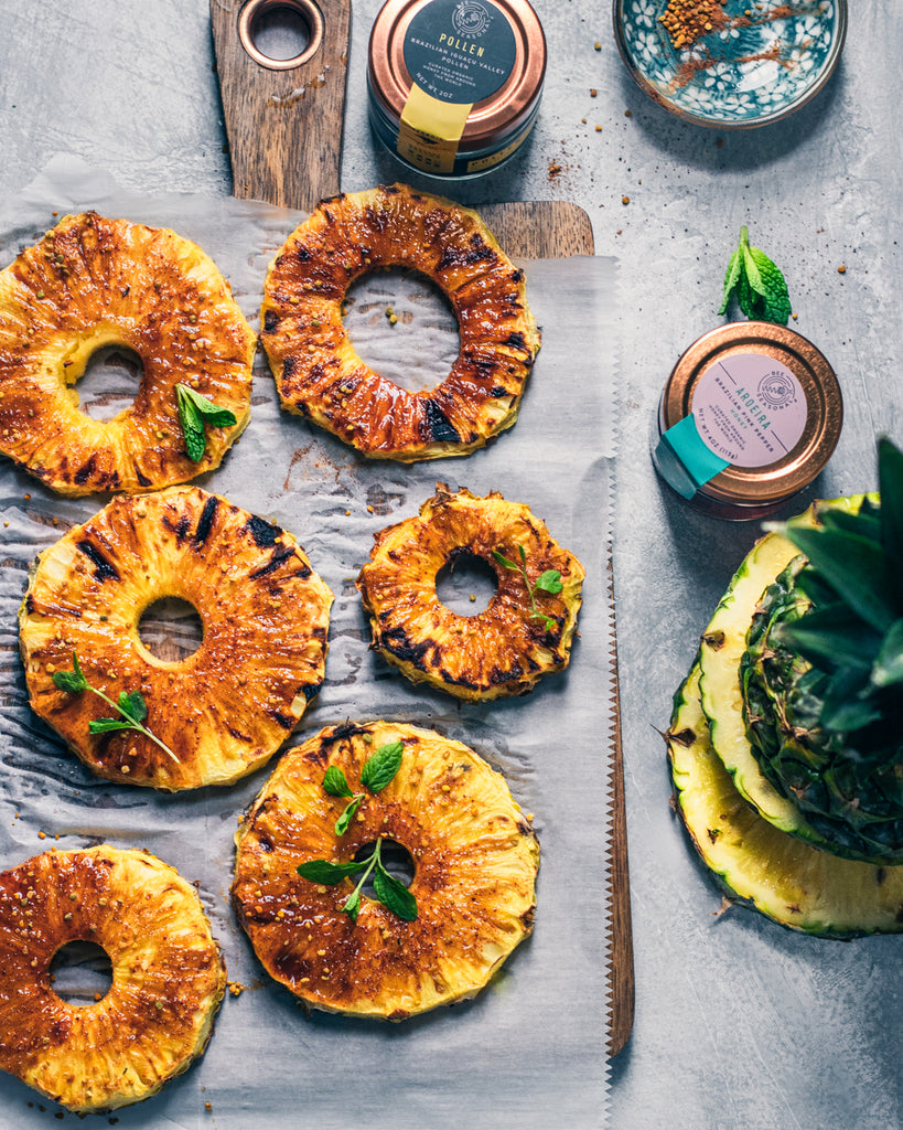 Honey Glazed Grilled Brazilian Pineapple