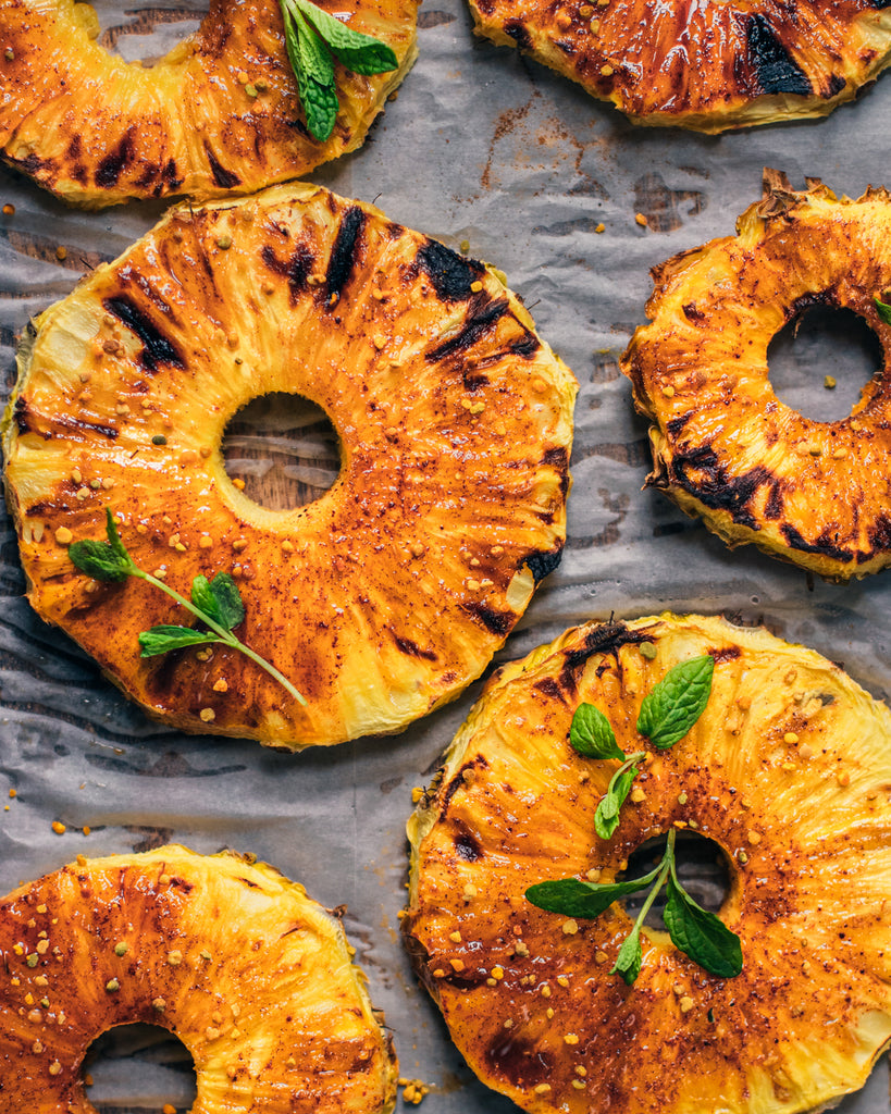 Honey Glazed Grilled Pineapple