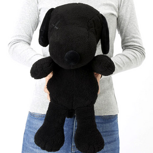KAWS UNIQLO SNOOPY PLUSH LARGE BLK