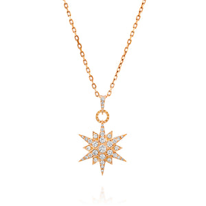 1.06 Carat celestial diamond North Star pendant in 18k