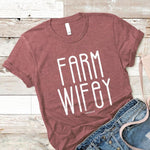 Farm Wifey t-shirt Lakes CO