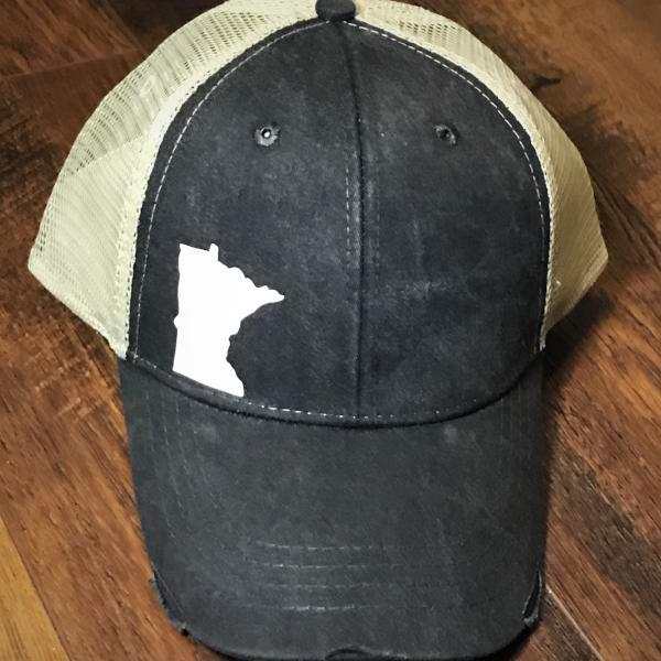 Lakes Company Dark Gray MN Baseball Hat