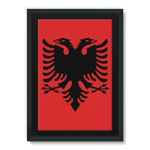 National Flag Of Albania Framed Canvas Wall Decor Flagdesignproducts.com