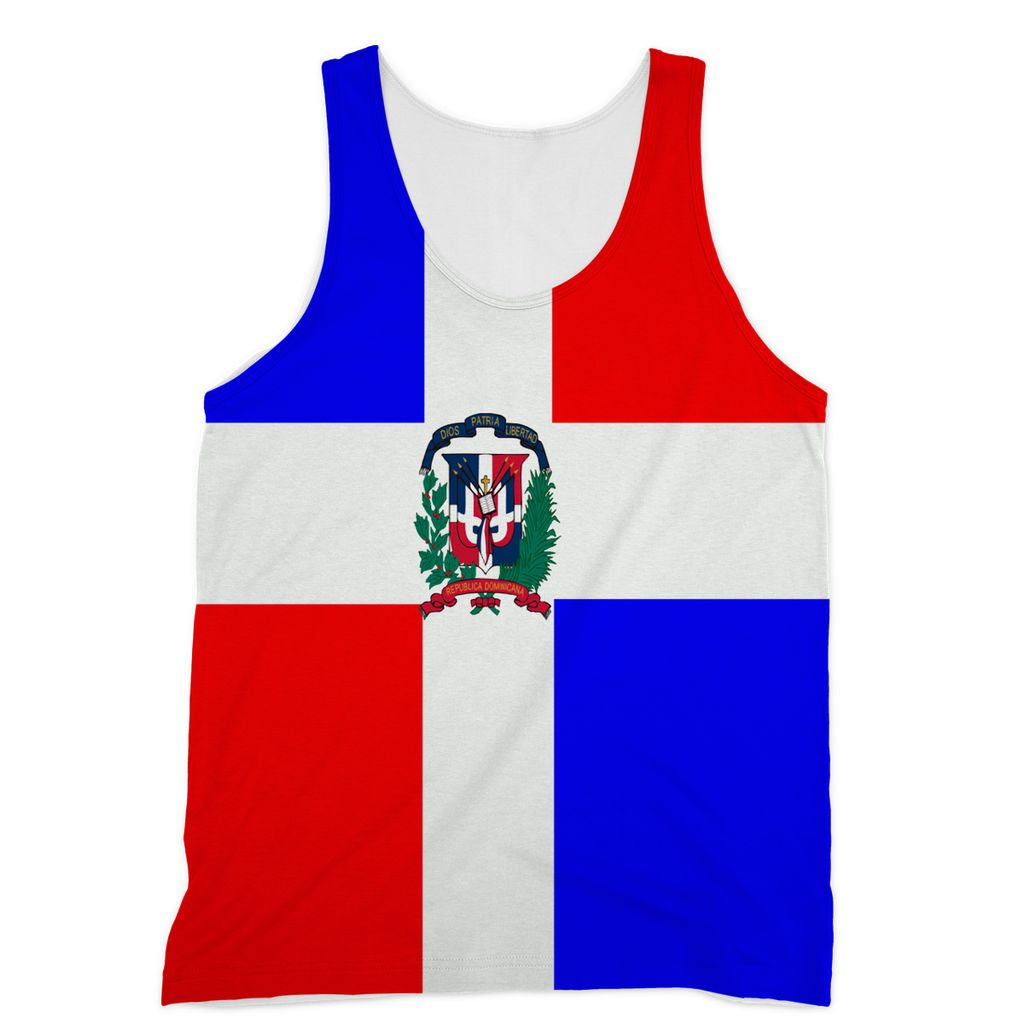 Flag Of Dominican Republic Sublimation Vest Apparel Flagdesignproducts.com
