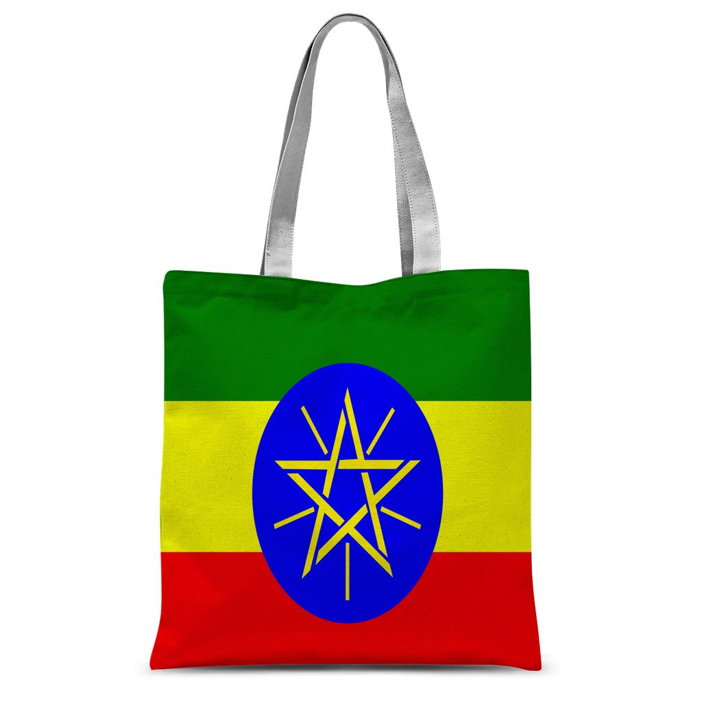 Flag Of Ethiopia Sublimation Tote Bag Accessories Flagdesignproducts.com