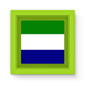 Flag Of Sierra Leone Magnet Frame Homeware Flagdesignproducts.com