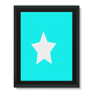 Flag Of Somalia Framed Eco-Canvas Wall Decor Flagdesignproducts.com