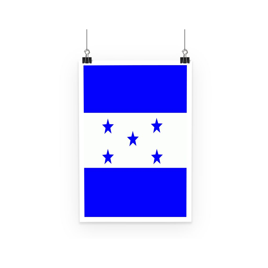 Flag Of Honduras Poster Wall Decor Flagdesignproducts.com