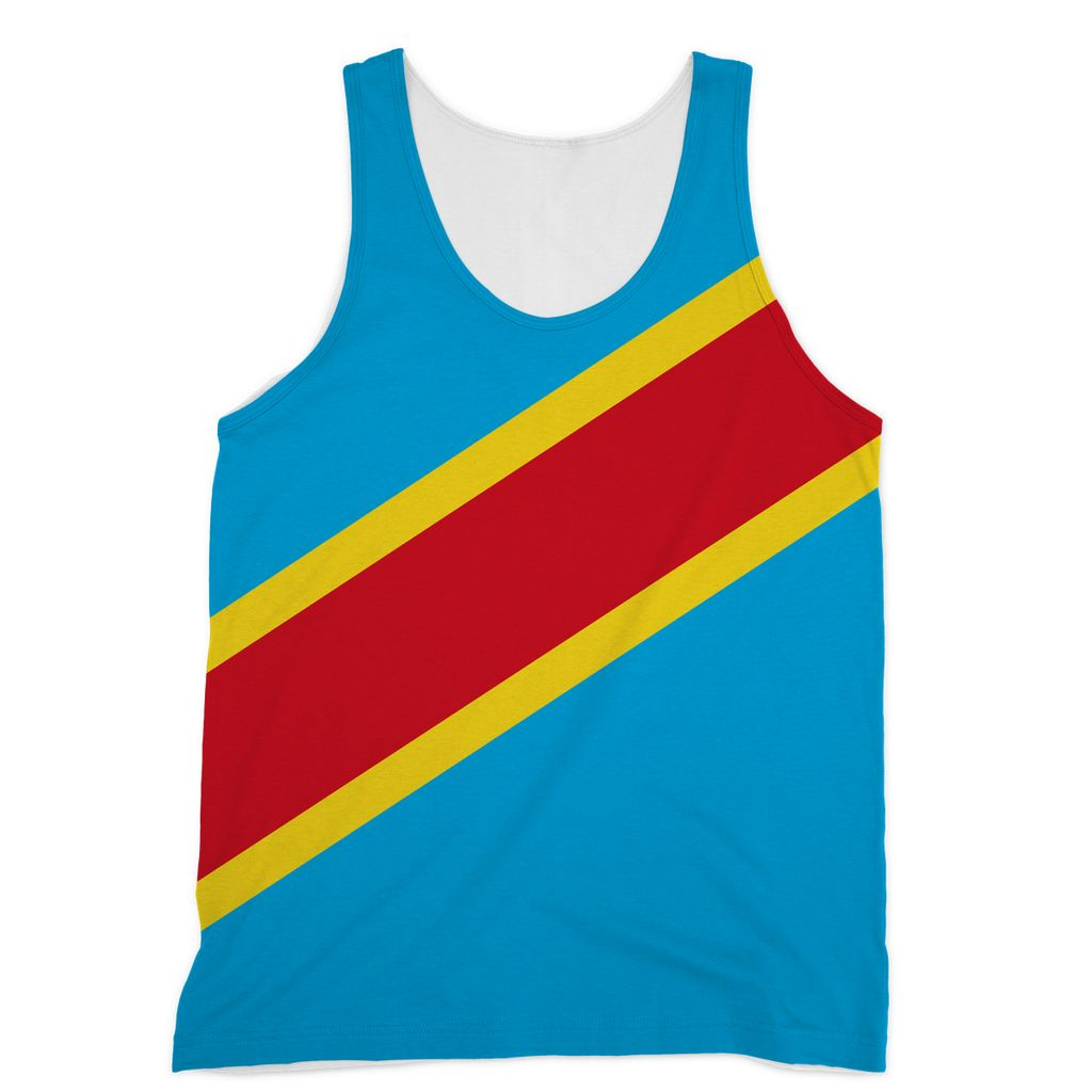 Flag Republic Of Congo Sublimation Vest Apparel Flagdesignproducts.com