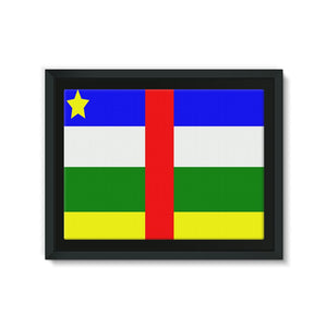 Flag Of Central African Framed Canvas Wall Decor Flagdesignproducts.com