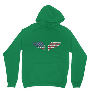 America Usa Wings Flag Heavy Blend Hooded Sweatshirt Apparel Flagdesignproducts.com