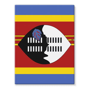 Flag Of Swaziland Stretched Canvas Wall Decor Flagdesignproducts.com