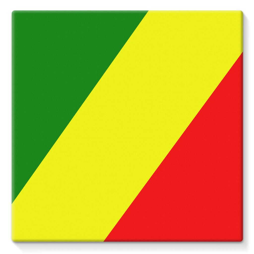 Flag Of The Rep Congo Stretched Canvas Wall Decor Flagdesignproducts.com