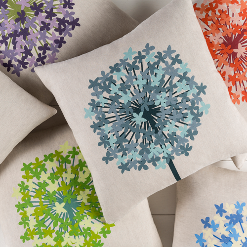 Agapanthus Pillow - More Colors