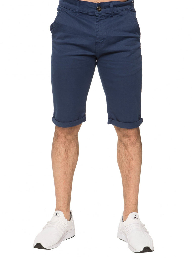 Chino Shorts by Enzo  EZS348 Blue Front