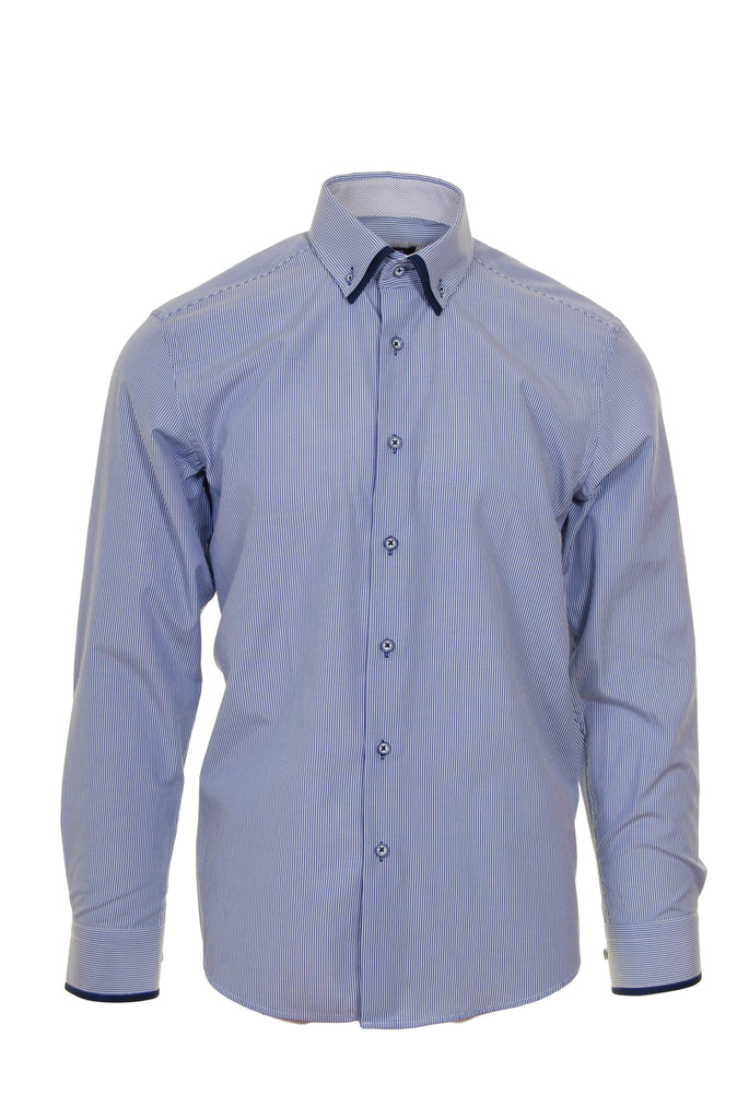 Royal Stripe Tapered Fit Shirt by Advise Front