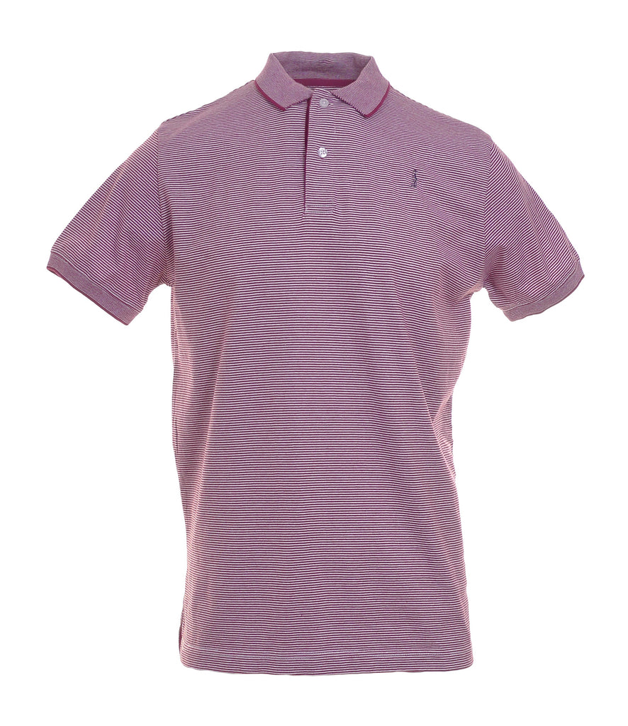 Conor Plum Stripe Polo