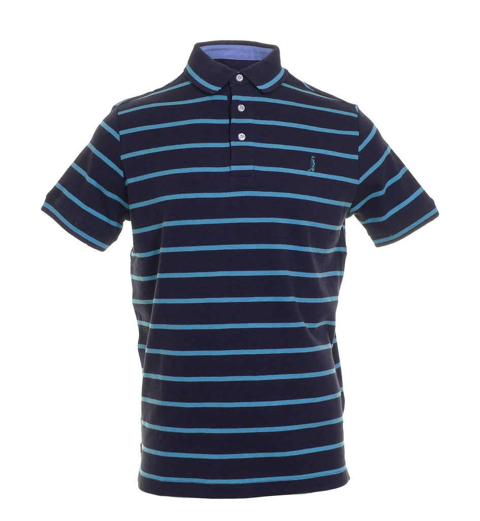 Holland Aqua Stripe Polo