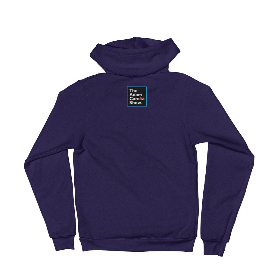 "Zippered Hoodie, ""Mahalo."" (American Apparel 