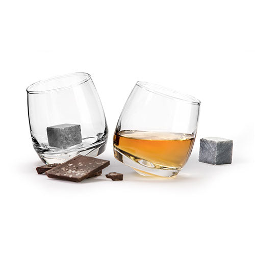 Club Whisky Glasses and Cooling Stones Gift Set by Sagaform