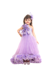 High low lilac feather gown