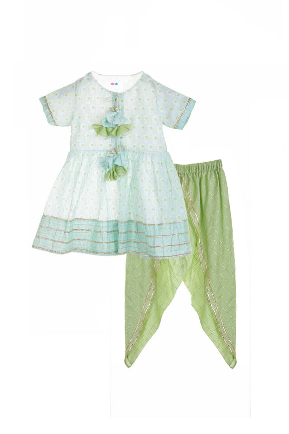 Ethnic wear for girls, Organic ethnic suit set for girls, Designer organic ethnic suits, Organic suit sets for girls