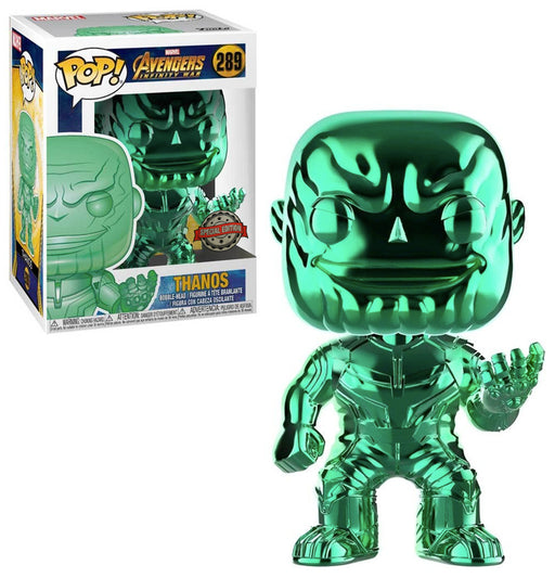 Funko POP! Vinyl Marvel Avengers Infinity War - Thanos Green Chrome