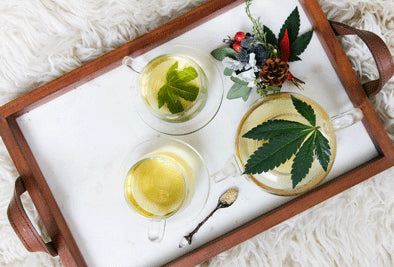 Cannabis Tea on Tray