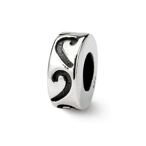 Sterling Silver Stopper and Spacer Bead Charm - The Black Bow Jewelry Co.