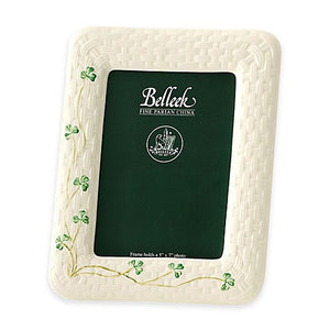 Belleek Shamrock Photo Frame