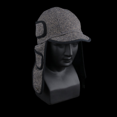 BEACH Fleecy Knit Trooper Cap in Charcoal