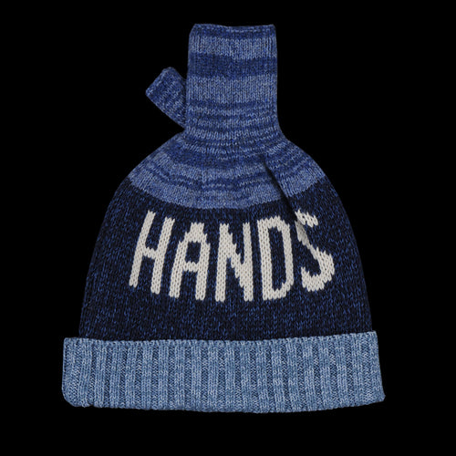 5g Glove Blue Hands Knit Cap in Blue