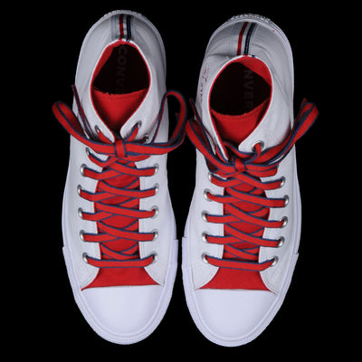 Converse - Chuck Taylor All Star Hi in White Gym Red & Navy