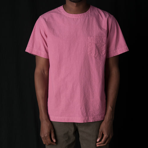 T-shirt Poplin Garment Dyed in Pink