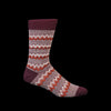 Anonymous Ism - Zigzag Links Crew Sock in Wine