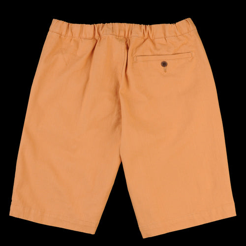 Drawstring Short in Cashew Cotton Twill