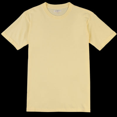 Lady White Co. - Lite Jersey Tee in Pale Yellow