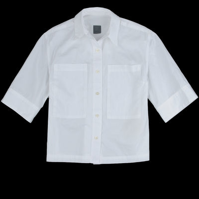 Grei. - Poplin Two Pocket Box Shirt in White
