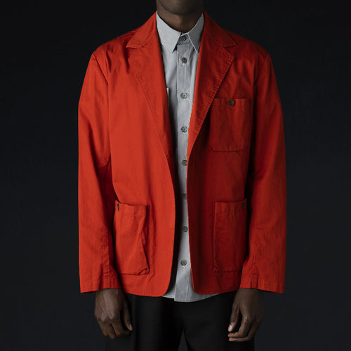 "Fine Twill Sack Pocket ""Air"" Jacket in Paprika"