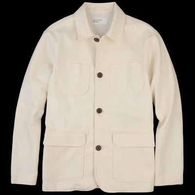 Universal Works - Labour Jacket in Ecru Natural Twill