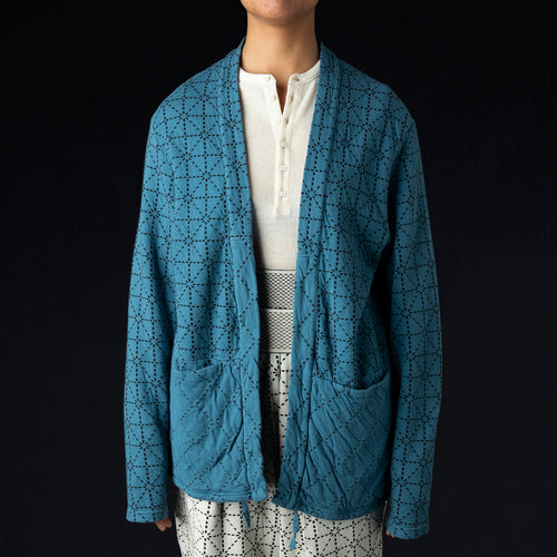 DO-GI Sashiko Jersey KAKASHI Cardigan in Blue