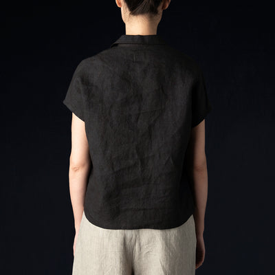 Needles - Linen French Sleeve Top in Mud Dye