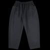 Monitaly - Drop-Rise Wrapped Trouser in Wool Gaberdine Black