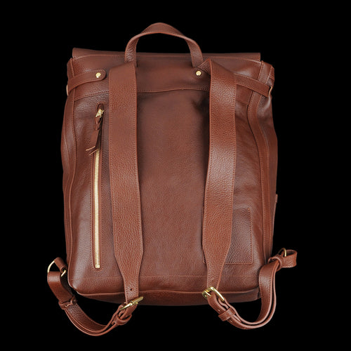 Leather Knapsack in Chestnut