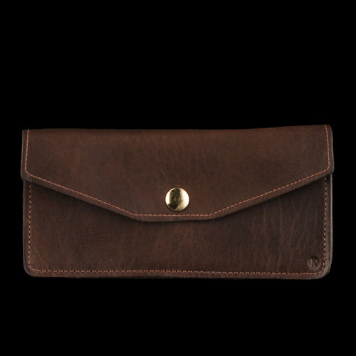 Classical Wallet with Zipper in Brown