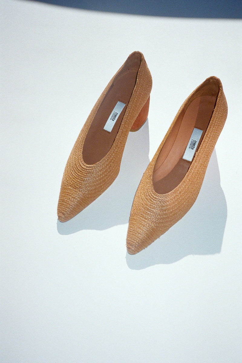 Nina Pump - Raffia Natural