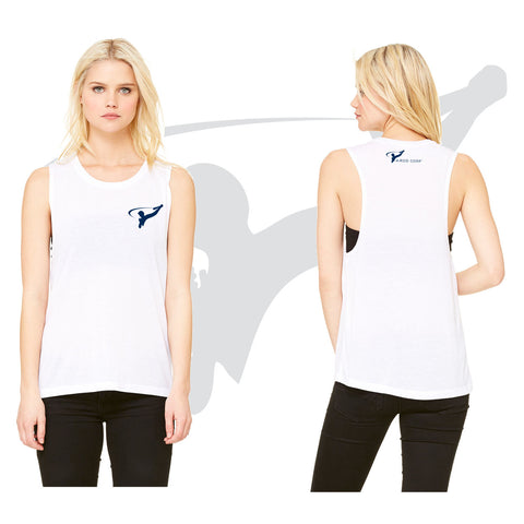 WOMENS MUSCLE TANK - WHITE